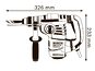 Перфоратор Bosch GBH 3-28 DRE Professional (061123A000)
