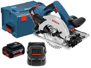 Дисковая аккумуляторная пила Bosch GKS 18V-57 G L-boox (06016A2100)