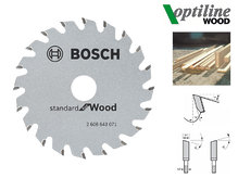 Циркулярный диск Bosch Optiline Wood 85 мм, 20 зуб. (2608643071)