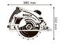 Ручная дисковая пила Bosch GKS 190 (0601623000)