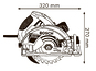 Ручная дисковая пила Bosch GKS 65 G (0601668903)