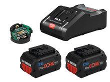 Комплект Bosch, 2 аккум.ProCORE18V 8.0Ah + ЗУ GAL 18V-160 C + GCY 30-4 (1600A016GP)