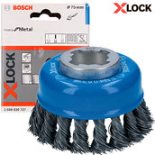 Чашечная щетка Bosch X-Lock, 75x0,5мм (2608620727)