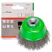 Щетка нержавеющая, чашечная Bosch (2608622102), 75 мм