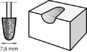 Зазубренная насадка из карбида вольфрама конической формы DREMEL 9934 (7,8 мм)