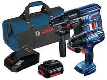 Аккумуляторный комплект, Bosch GBH 180-LI + GSR 180-LI (06019F8102)