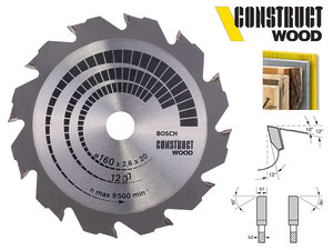 Циркулярный диск Bosch Construct Wood 160 мм, 12 зуб. (2608640630)