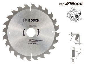 Пильный диск Bosch Eco Wood, 190 мм, 24 зуб. (2608644376)