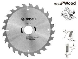Пильный диск Bosch Eco Wood, 200 мм, 24 зуб. (2608644379)