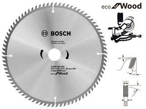 Пильный диск Bosch Eco Wood, 254 мм, 80 зуб. (2608644384)