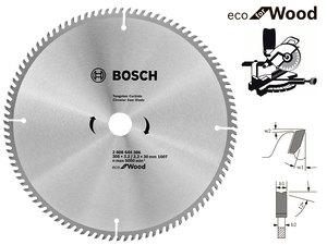 Пильный диск Bosch Eco Wood, 305 мм, 100 зуб. (2608644386)