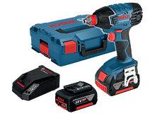 Аккумуляторный гайковерт Bosch GDX 18 V-LI L-boxx (06019B8104)