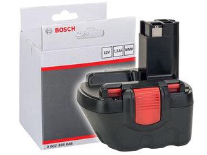 Аккумулятор Bosch NiMH 12V 1,5 Ah O-pack (2607335848)