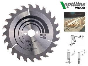 Циркулярный диск Bosch Optiline Wood 160 мм, 24 зуб. (2608640596)