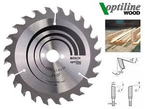Циркулярный диск Bosch Optiline Wood 160 мм, 24 зуб. (2608641171)