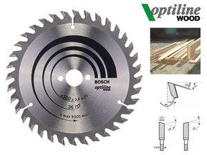 Циркулярный диск Bosch Optiline Wood 160 мм, 36 зуб. (2608640597)