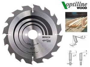 Циркулярный диск Bosch Optiline Wood 190 мм, 16 зуб. (2608641184)