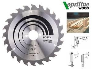Циркулярный диск Bosch Optiline Wood 190 мм, 24 зуб. (2608640615)