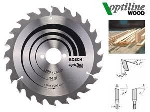 Циркулярный диск Bosch Optiline Wood 190 мм, 24 зуб. (2608641185)