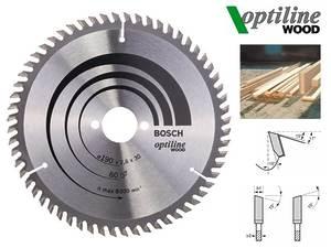 Циркулярный диск Bosch Optiline Wood 190 мм, 60 зуб. (2608641188)