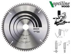 Циркулярный диск Bosch Optiline Wood 254 мм, 80 зуб. (2608640437)