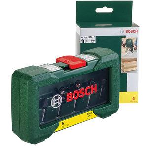 Набор фрез по дереву, Bosch 6 шт. хвостовик 6 мм (2607019464)