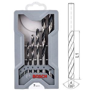 Набор сверл по металлу, Bosch HSS PointTeQ, 7 шт (2608577347)