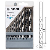 Набор сверл по металлу, Bosch HSS PointTeQ, 10 шт (2608577348)
