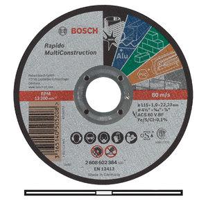 Многоцелевой отрезной круг, Bosch 115 x 1,0 мм (2608602384)