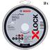 Круги отрезные Bosch X-Lock Standard for Inox 10 шт, 125x1,0 мм (2608619267)