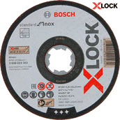 Круг отрезной Bosch X-Lock Standard for Inox, 125x1,6 мм (2608619263)