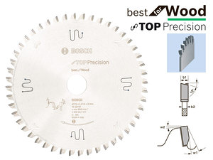 Циркулярный диск Bosch Best for Wood 216 мм, 48 зуб. (2608642101)