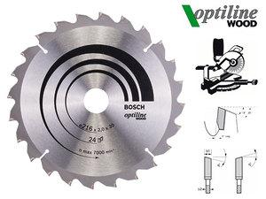 Циркулярный диск Bosch Optiline Wood 216 мм, 24 зуб. (2608640431)